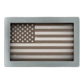 Vintage USA Flag Rectangular Belt Buckles