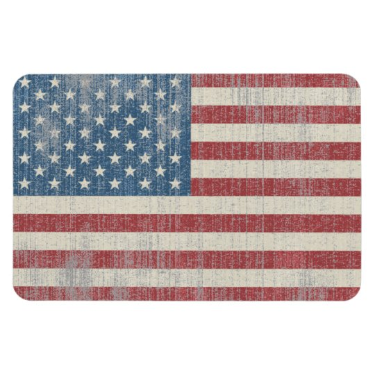 Vintage USA Flag Rectangular Magnet