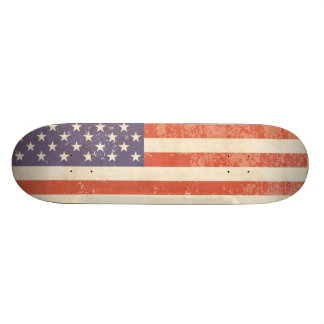 Vintage USA Flag - Skateboard