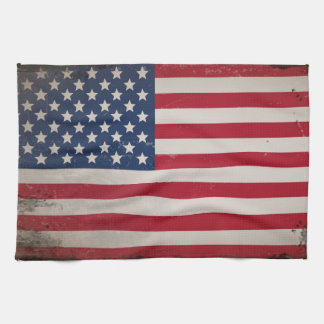 Vintage USA Flag Tea Towel