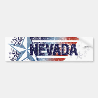 Vintage USA Flag with Star – Nevada Bumper Sticker