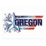 Vintage USA Flag with Star – Oregon Post Cards