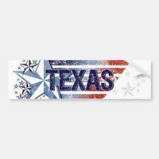Vintage USA Flag with Star – Texas Bumper Sticker