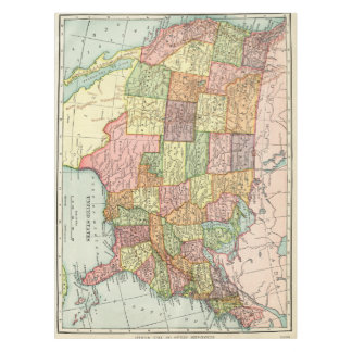 Vintage USA map Tablecloth