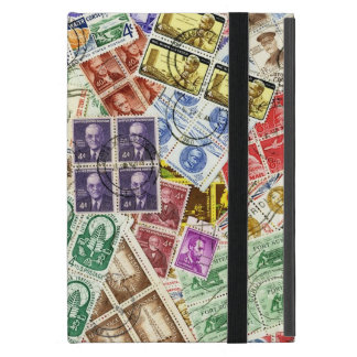 Vintage Used Stamps iPad Mini Cover