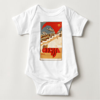 Vintage USSR Travel Poster Baby Bodysuit