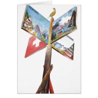 Vintage Vacation in Switzerland Card