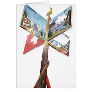 Vintage Vacation in Switzerland Greeting Card