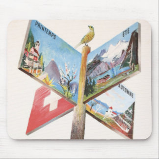 Vintage Vacation in Switzerland Mouse Pad