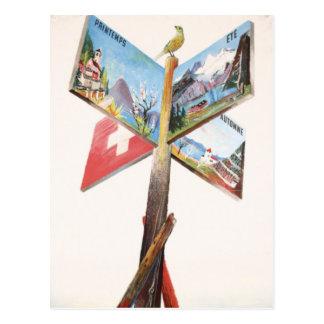 Vintage Vacation in Switzerland Postcard