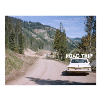 Vintage Vacation Montana Road Trip Classic Car Postcard