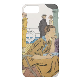 Vintage Vacation, Passengers Cruise Ship on Deck iPhone 7 Case