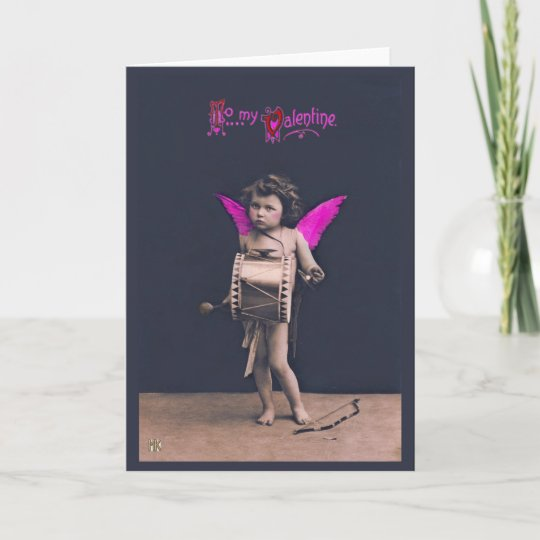 Vintage Valentiene Cupids Message Greeting Card