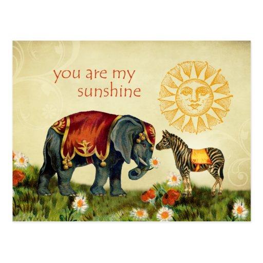 Vintage Valentine Animals in Love Post Cards