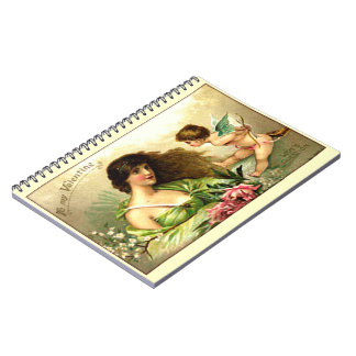 Vintage Valentine Aphrodite And Cupid Notebook