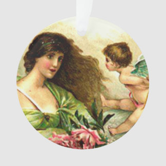 Vintage Valentine Aphrodite And Cupid Ornament