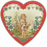 Vintage Valentine Broach Pin Photo Cutouts