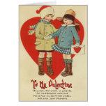 Vintage Valentine Card for Kids