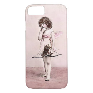 Vintage Valentine Cautious Cupid iphone case