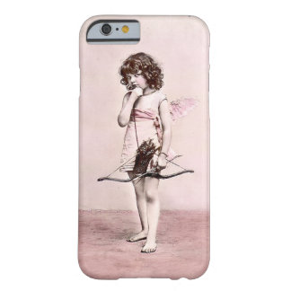 Vintage Valentine Cautious Cupid iphone case Barely There iPhone 6 Case