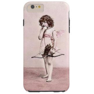 Vintage Valentine Cautious Cupid iphone case Tough iPhone 6 Plus Case