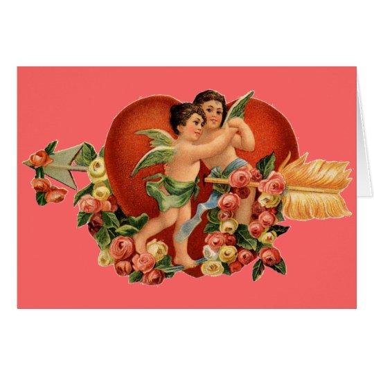 Vintage Valentine Cherubs Card