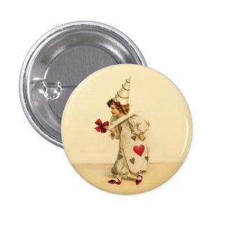 Vintage Valentine Clown Button
