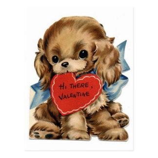 Vintage Valentine Cocker Spaniel Post Cards