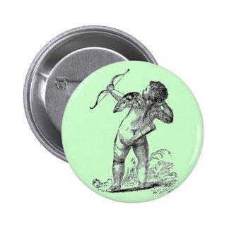 Vintage Valentine Cupid 6 Cm Round Badge