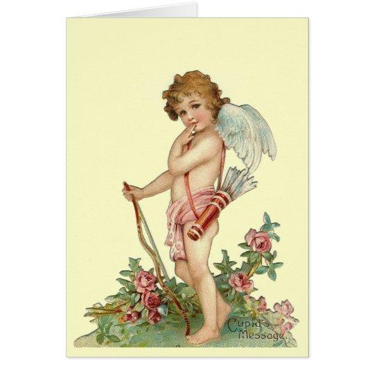 Vintage Valentine Cupid Card