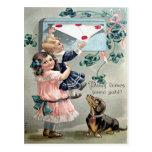 Vintage Valentine Dachshund Postcard