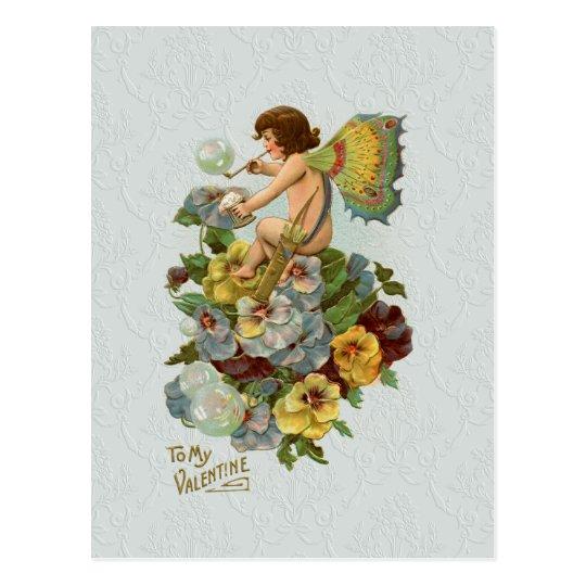 Vintage Valentine Fairy Postcard
