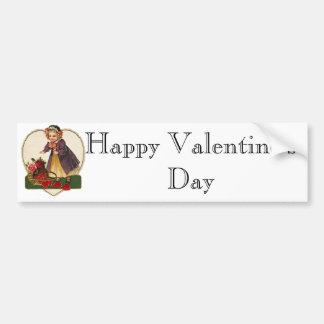 Vintage Valentine Girl Bumper Sticker