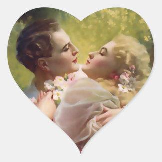 Vintage Valentine Heart Sticker