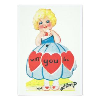 Vintage Valentine 5x7 Paper Invitation Card