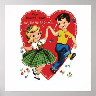 Vintage Valentine kids Poster