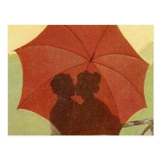 Vintage Valentine Kiss ! Postcard
