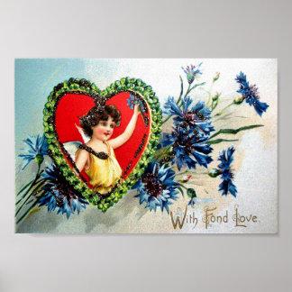 Vintage Valentine Postcard Posters