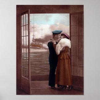 Vintage Valentine Postcard Poster