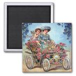 Vintage Valentine Postcard Square Magnet