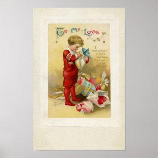 Vintage Valentine Print