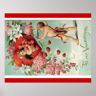 Vintage Valentine s poster