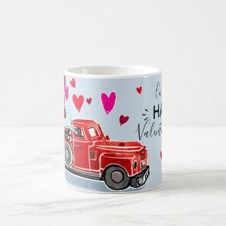Vintage Valentine Truck Add Name Coffee Mug