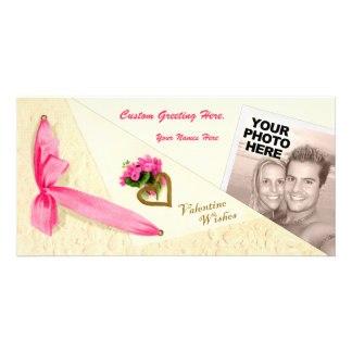 Vintage Valentine Wishes - Folded Photo Template Photo Card