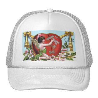 Vintage Valentine's Day Angel Mesh Hats