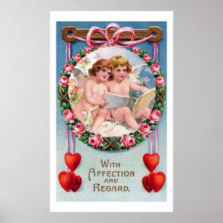 Vintage Valentine's Day Angels Print