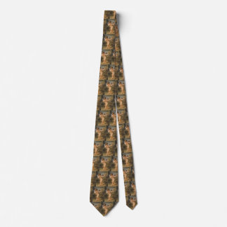 Vintage Valentines Day, Bow and Arrow Cupid Forest Tie