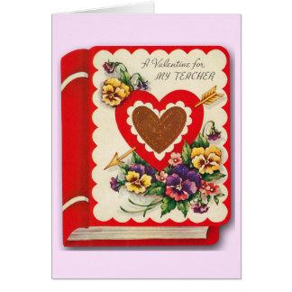 Vintage Valentine's Day Card for Teacher