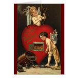 Vintage Valentines Day Cupid, Angels Burning Love Note Card