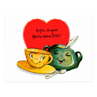 Happy Valentines Day Free Vintage Valentine Card Red Puppy Blue Bow